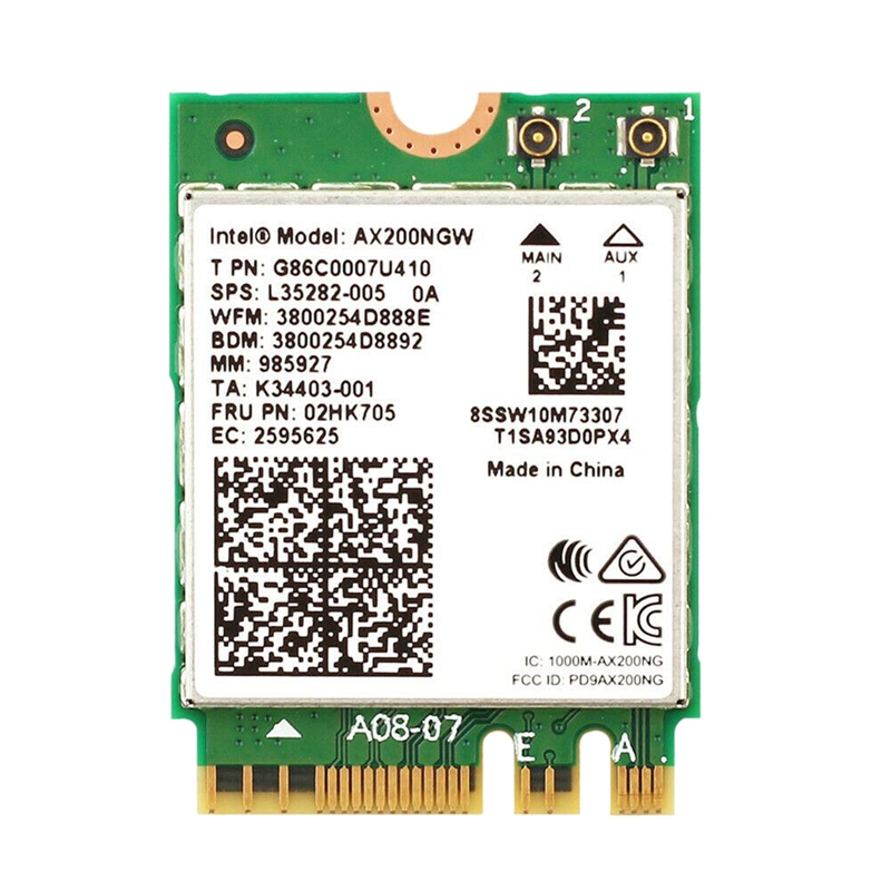Dual Band Wireless <font><b>AX200NGW</b></font> 2.4Gbps 802.11Ax Wireless <font><b>Intel</b></font> AX200 WiFi Card Bluetooth 5.0 for Windows 10 image