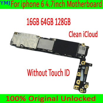 For iphone 6 4.7 inch Original unlocked Motherboard without Touch ID,100% Tested for iphone 6 Mainboard 16GB / 64GB / 128GB