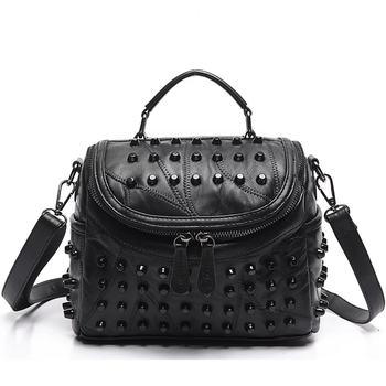 2020 Women Stitching Fashion All-match  Genuine Leather Bag Luxury Messenger Crossbody Bags Famous Brands Handbags Shoulder Bag women handbags famous brands women bags purse messenger shoulder bag high quality ladies luxury top women lattice bag 2020