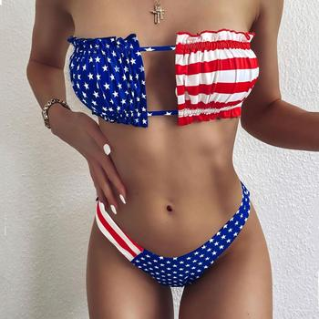 American National Flag Bikinis Set