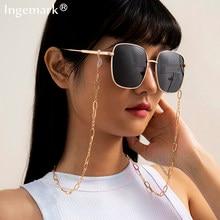 Correa de Metal para gafas de sol, cadena con cuentas de perlas y cristales acrílicos, estilo Punk, 2021