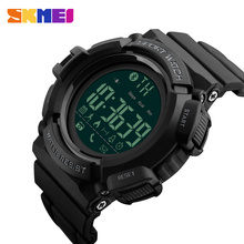SKMEI Smart Men Sports Watch Bluetooth Pedometer Calories Chronograph Watches Fashion 50M Waterproof Digital Wristwatches 1245 skmei 50m waterproof three movement men s electronic watches black mirror silver