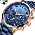 2019LIGE мужские часы модные синие спортивные кварцевые часы для мужчин лучший бренд класса люкс Бизнес водонепроницаемые часы Relogio Masculino