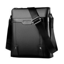 Vintage High Quality PU Leather Men Casual Messenger Crossbody Bag