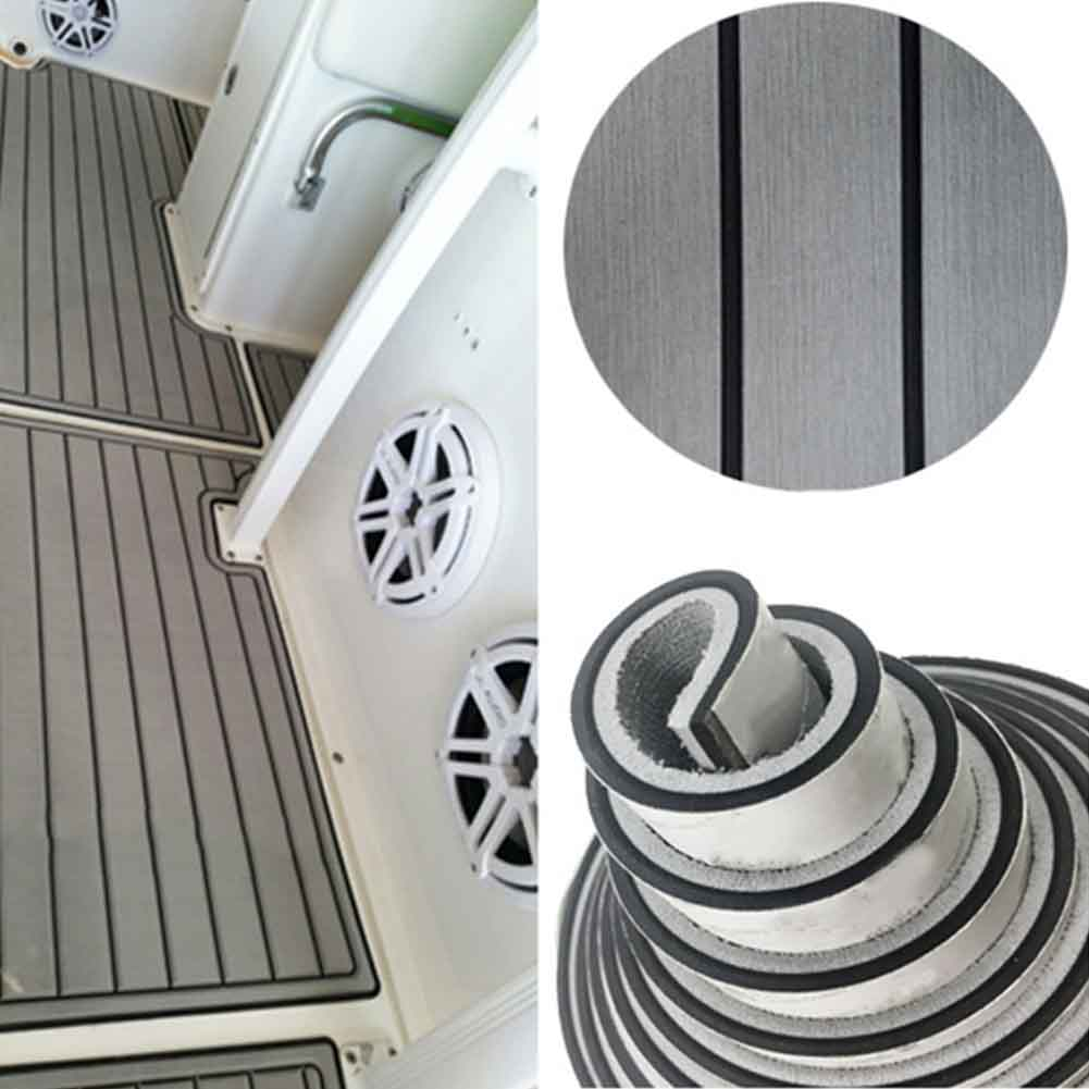 Anti Slip Cushioning Yacht Sound Insulation Boat Decking Sheet Self Adhesive Swim Platform EVA Foam Marine Flooring Motor Home