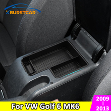 Armrest Box Cup-Holder Golf-6-Mk6 Central-Store-Content-Box Interior-Car-Styling-Accessories