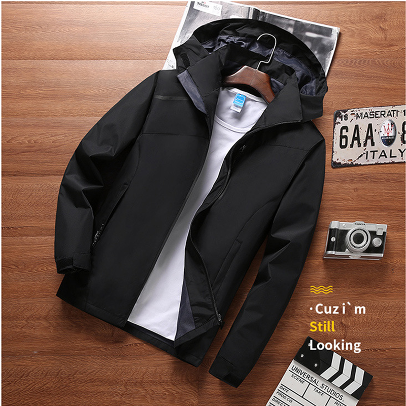 Outdoor Waterproof Jacket Men's Spring And Autumn Waterproof Thin Coat Windproof Breathable Mountaineering Men's Sportswear