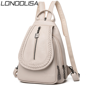 Image 1 - Women Leather Backpacks High Quality Female Backpack Chest Bag Casual Daily Bag Sac a Dos Ladies Bagpack Travel School Back Pack