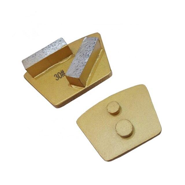 GT72 deux broches Redi Lock trapèze diamant plaque de meulage changement rapide béton meulage chaussures polissage plancher tampon 12 pièces