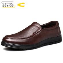 Camel Active New Business Dress Shoes Mens Genuine Leather Comfortable Men Loafers Cowhide Driving Soft Non slip Casual Shoes