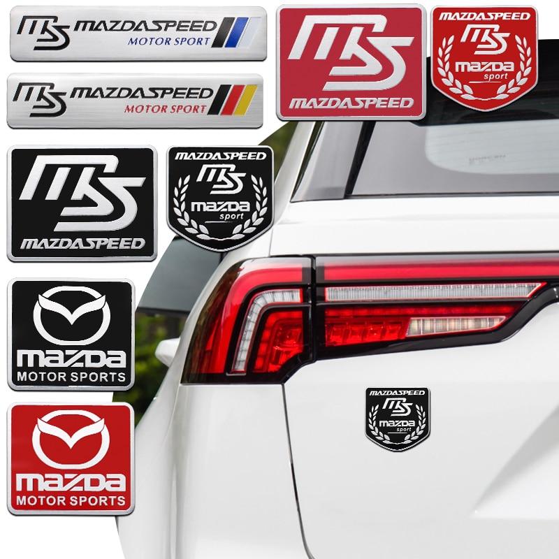 3D стайлинга автомобилей Знак логотипа алюминиевая Наклейка украшения для Mazda 2, 3, 5, 6, 8, CX 5 CX 7 CX 9 MX 5 ATENZA Axela Gg аксессуары|Наклейки на автомобиль|   | АлиЭкспресс