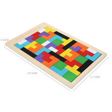 Tetris wooden puzzle building blocks game childrens educational can piece together different shape toys
