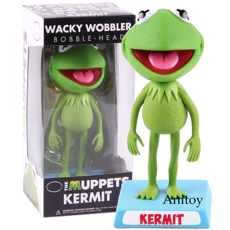 The Muppets Show Kermit The Frog Wacky Wobbler Bobble Head Action Figure PVC Collectible Model Toy Doll Gift For Kids