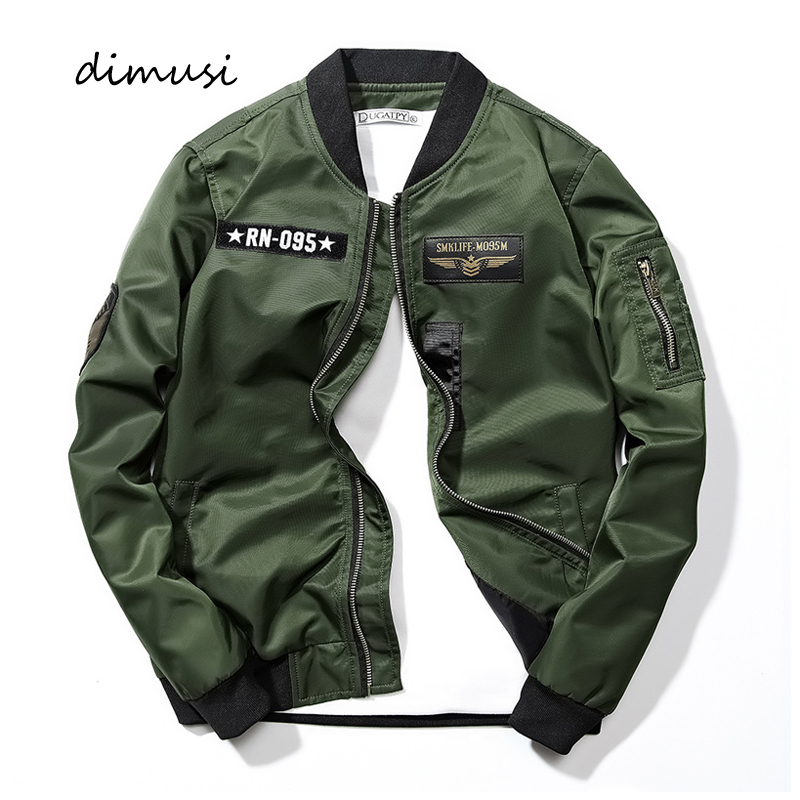 DIMUSI New Men's Bomber Jackets Casual Male Outwear Windbreaker Coats Fashion Hip Hop Mens Slim Pilot Baseball Jackets Clothing