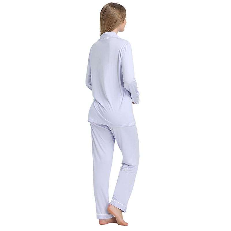 Joyaria Pajama Sets Women Long Sleeve Sleepwear Button Down Pj Pants Set Soft Bamboo Female Night Suit PJS Women Pyjamas Femmes