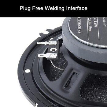 2pcs 6 Inch 600W 4 Way Car Coaxial Speaker Auto Music Stereo Full Range Frequency Hifi Speaker Loudspeaker Non-destructive