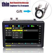Oscilloscopio ADS1013D 2 canali 100MHz larghezza banda 1GSa/s oscilloscopio frequenza di campionamento con schermo tattile LCD TFT a colori da 7 pollici