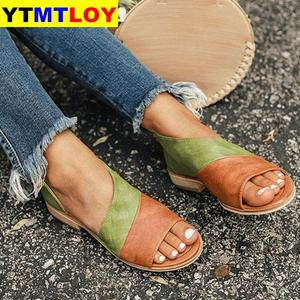 Sexy Print Beach Sandals Women Summer Shoes 2020 Fashion Leopard Slippers Casual Open Toe Gladiator Slip-on Wedges Zapatos