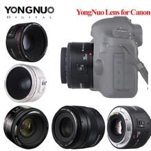 용인 렌즈 YN50mm f1.8 YN EF 50mm YN50 조리개 AF 렌즈, 캐논 EOS 60D 70D 5D2 5D3 600d 카메라 Dropshipping