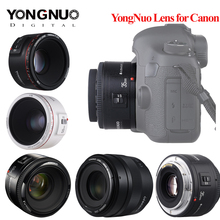 Объектив YONGNUO YN50 мм f1.8 YN EF 50 мм YN50 объектив с апертурой AF для камер Canon EOS 60D 70D 5D2 5D3 600d Прямая поставка