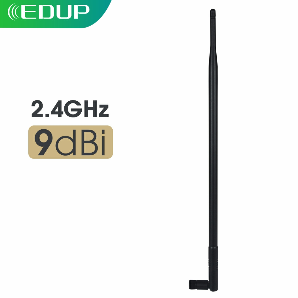 High Gain 9dBi Male WiFi Antenna 2.4GHz RP-SMA Wi-Fi Range Wireless Extender Booster Universal Antennas Connector for Router
