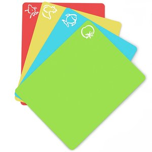 Flexible Plastic Non-slip Chopping Block - Cutting Board - Cutting Mats With Food Icons Kitchen Tools (Set Of 4) 15