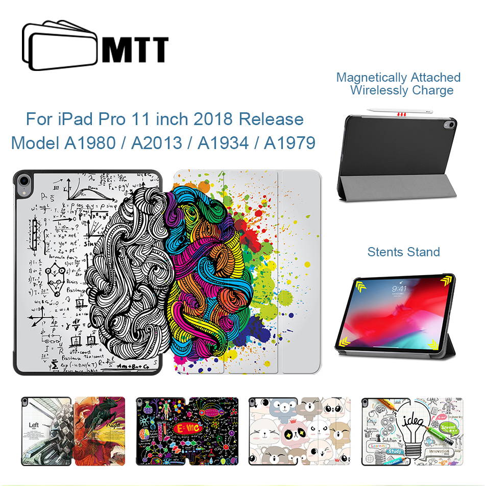 MTT <font><b>Case</b></font> For <font><b>iPad</b></font> Pro 11 inch 2018 PU Leather Magnetic Flip Fold Stand Cover Smart Tablet <font><b>Case</b></font> Funda <font><b>A1980</b></font> A2013 A1934 A1979 image
