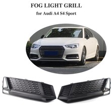 1 Pair Fog Light Cover Grille Grill Bezel Trim For-AUDI A4 S4 S-Line B9 2016-2018(China)