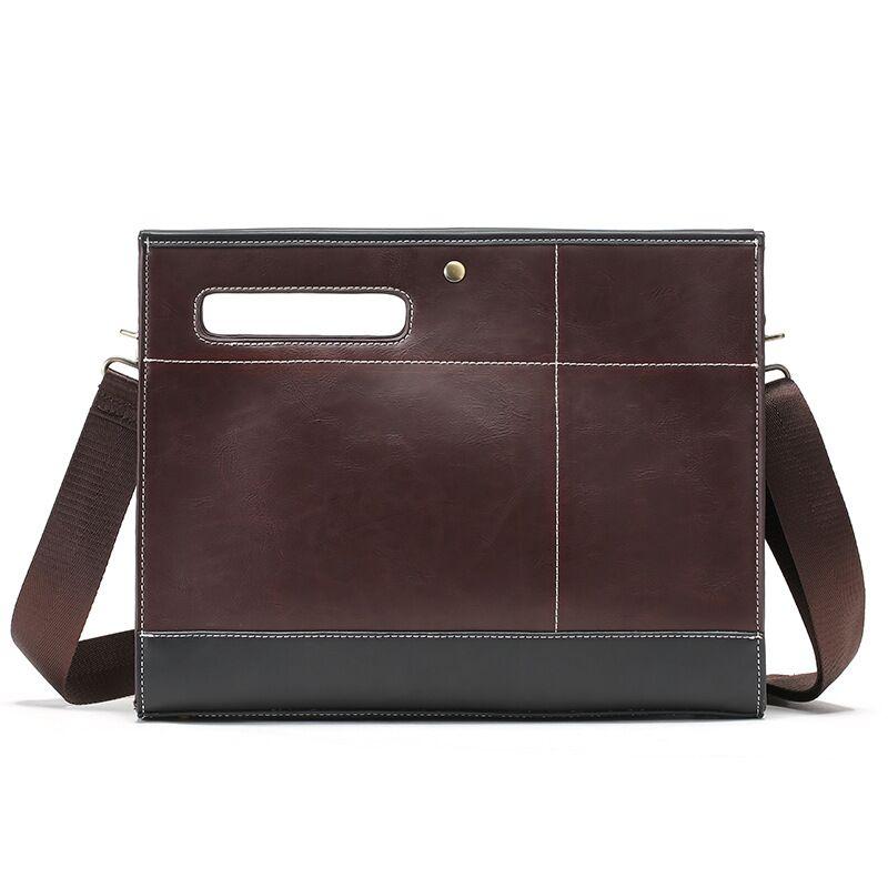 Большая вместительная Мужская Сумка В Стиле Ретро Crazy Horse, кожаная мужская сумка через плечо, деловой мужской портфель, сумка для планшета