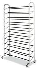 Whitmor 10 Tier Schuh Turm-50 Paar-Roll Schuh Rack mit Locking Räder