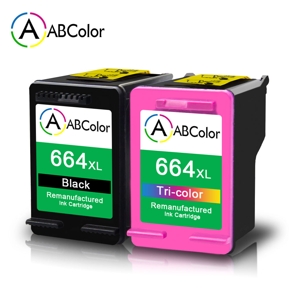2Pcs High Yield Ink Cartridges Compatible For HP 664XL Ink Cartridge DeskJet 2675 5075 5275 1115 2135 3635 Printer