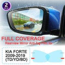DK Rainproof Film Full Cover Rearview Mirror for KIA Forte 2009~2019 2011 2013 2014 2015 2016 2017 2018 Cerato K3 Vivaro