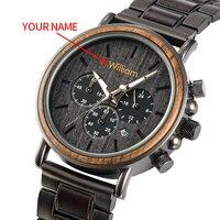 Relógio de pulso de madeira de quartzo personalizado presente masculino oem dropshipping aniversário dos namorados relógio de pássaro bobo|Relógios de quartzo| |  -