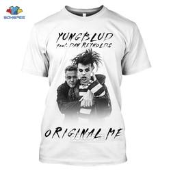 SONSPEE Yungblud T Shirt mężczyźni kobiety 3D drukuj lato na co dzień Hip Hop odzież typu Streetwear z krótkim rękawem piosenkarka czarny Off biały różowy Tee koszula