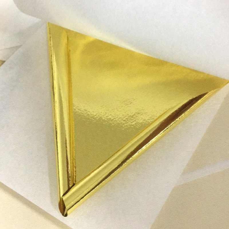 10PC Vàng 24K Lá Ăn Được Giấy Tờ Mặt Mặt Nạ Trang Trí Bánh Dụng Cụ Nghệ Thuật Thủ Công Giấy Vàng Thật viền Mạ Vàng Phụ Kiện