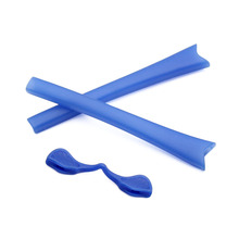 Replacement Rubber Kits Ear Socks & Nose Pads For-Oakley Radar Path Sunglasses Accessories - Blue Colors