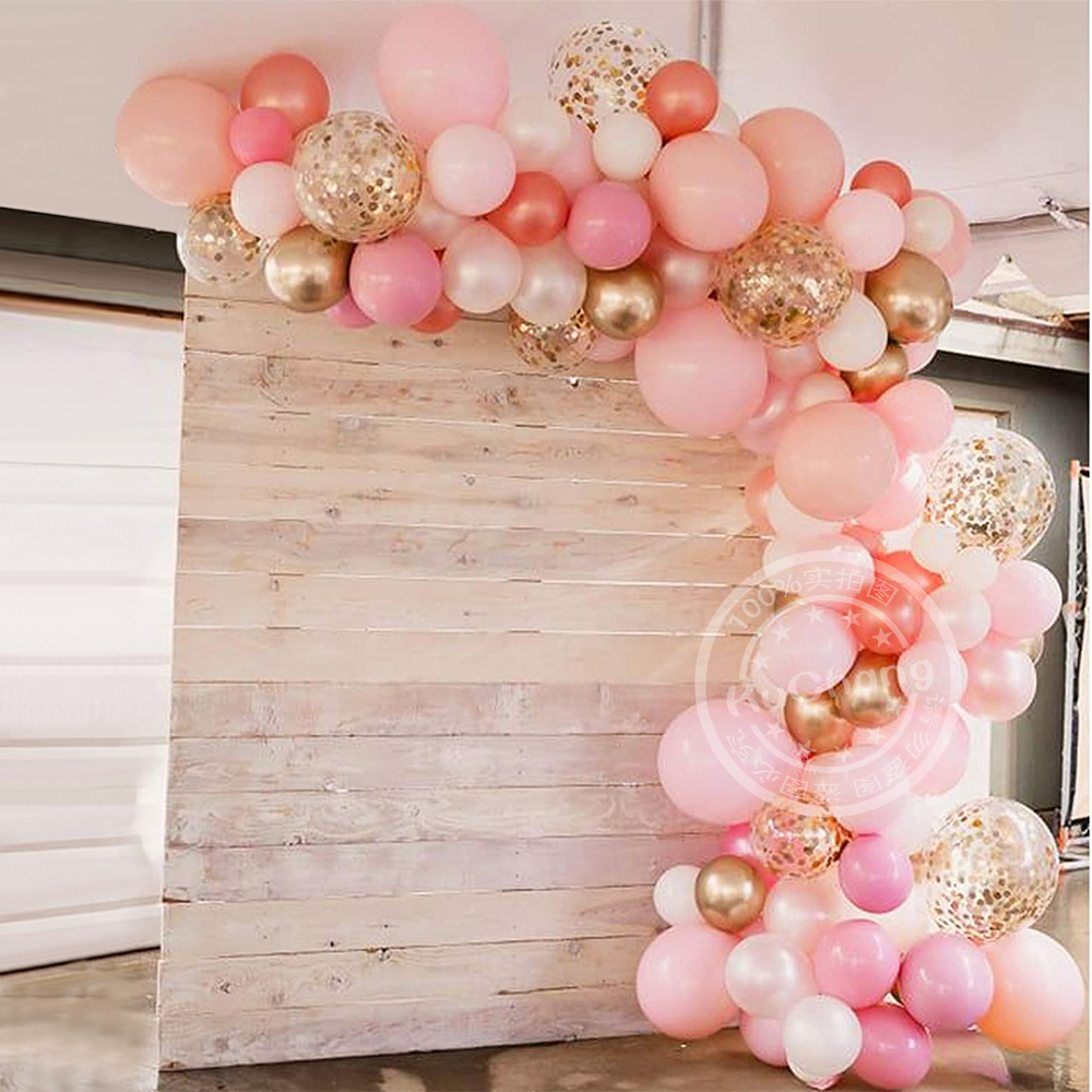 110 шт Розовый Шар АРКА комплект гирлянды белого золота конфетти латексные воздушные шары, валентинки День свадьбы День рождения украшение