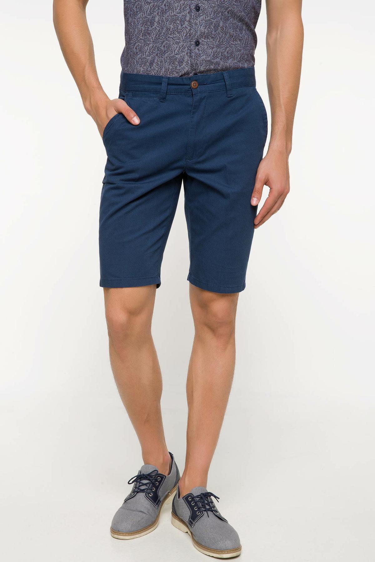 DeFacto Man Summer Solid Color Shorts Men Casual Beige Short Pants Male Straight Bermuda Shorts-I7636AZ18SM