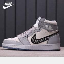 free shipping aj Dior x Nike-Air Jordan 1 High OG Men's Basketball Shoes Women High-top Sports Outdoor Sneakers Size eur 36-46