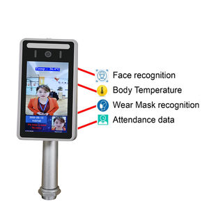 Image 2 - Face Recognition Thermo Camera Body Temperature Detector Access Control Non contact Fever Imager Thermal Camera with Voice Alarm