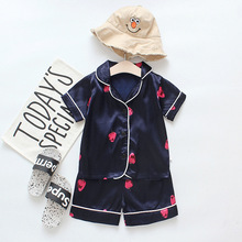 Fashion Cotton Long sleeves Kids Sleepwear Autumn Sets Toddler Baby Boys Long Sleeve Solid Tops+Pants Pajamas Sleepwear Outfits