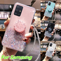 Phone Case For Samsung Galaxy S20 Ultra S10 S9 S8 Plus Note 10 Lite A51 A71 A81 A91 A10 A20 A30 A30S A50 A70 Bling Glitter Case|Fitted Cases| |  -
