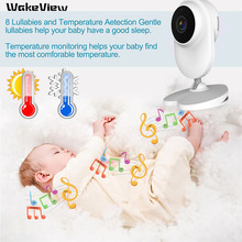 WakeView 1080P HD Video Baby Monitor Wireless 4.3'' LCD Babysitter 2 Way Talk IR Night Vision Temperature Security Nanny Camera 2 0 color video wireless baby monitor two way talk night vision ir night vision video baby camera with music temperature
