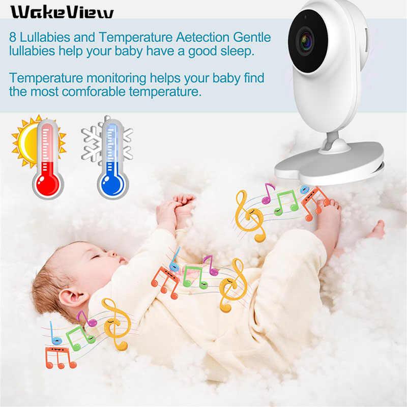WakeView 2.0MP 1080P Детский Монитор Беспроводное видео 4,3 дюймов 2 Way Talk детская камера ночное видение контроль температуры HD IR светодиодный