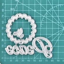 GJCrafts Letter Dies Peace Pigeon Metal Cutting Scrapbooking Card Making Embossing Stencil Die Cut Circle New Craft