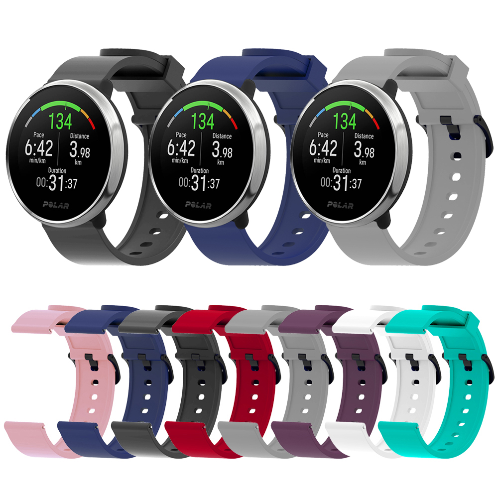 20mm Silicone Sport Watch Band For Galaxy Watch Active 2 Gear Smart Watch Strap For Samsung Galaxy 42mm Watch Replacement Strap