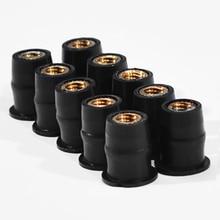 10Pcs/Set M5 5mm Metric Rubber Well Nuts Windscreen Windshield Fairing Cowl For Honda For Suzuki Auto Motorbike Off-road