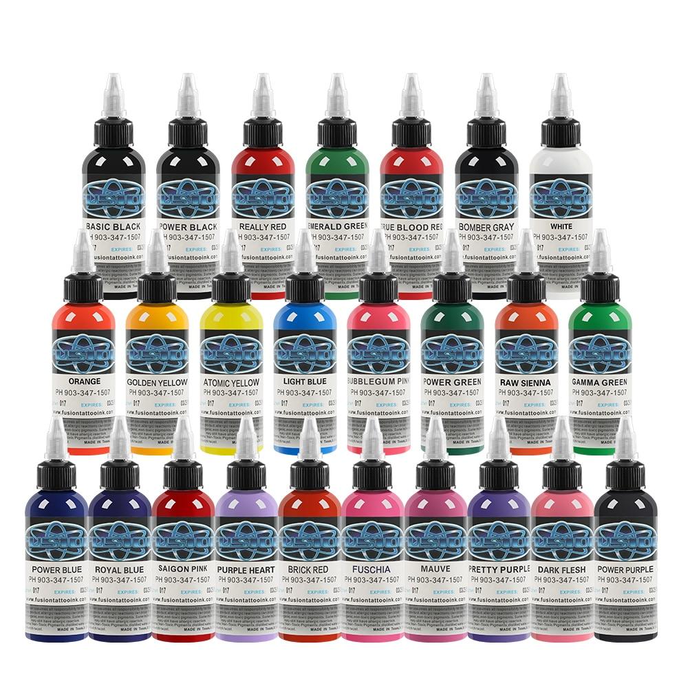 High Quality Tattoo Ink Set 1 Oz(30ML)/Bottle Permanent Tattoo  Microblading  Pigment Tattooist Supplies 25 Pack