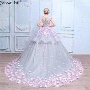 Image 2 - Roze Bloem Baljurk Trouwjurk Bruidsjurk Robe De Mariage Mariee Princesa Trouwjurken 2020 Real Photo HA2043