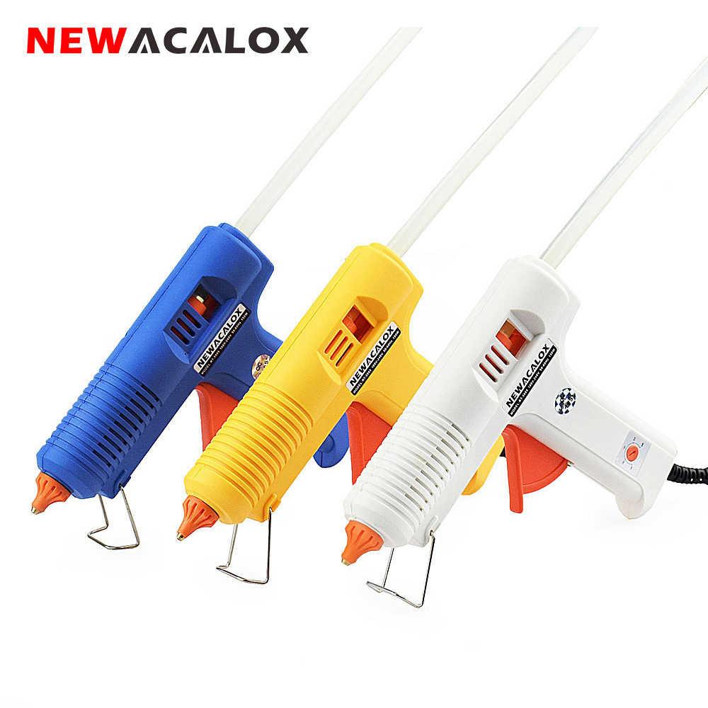 NEWACALOX 150W EU bricolage pistolet à colle thermofusible 11mm bâton adhésif industriel électrique pistolets à Silicone Thermo Gluegun réparation outils de chaleur